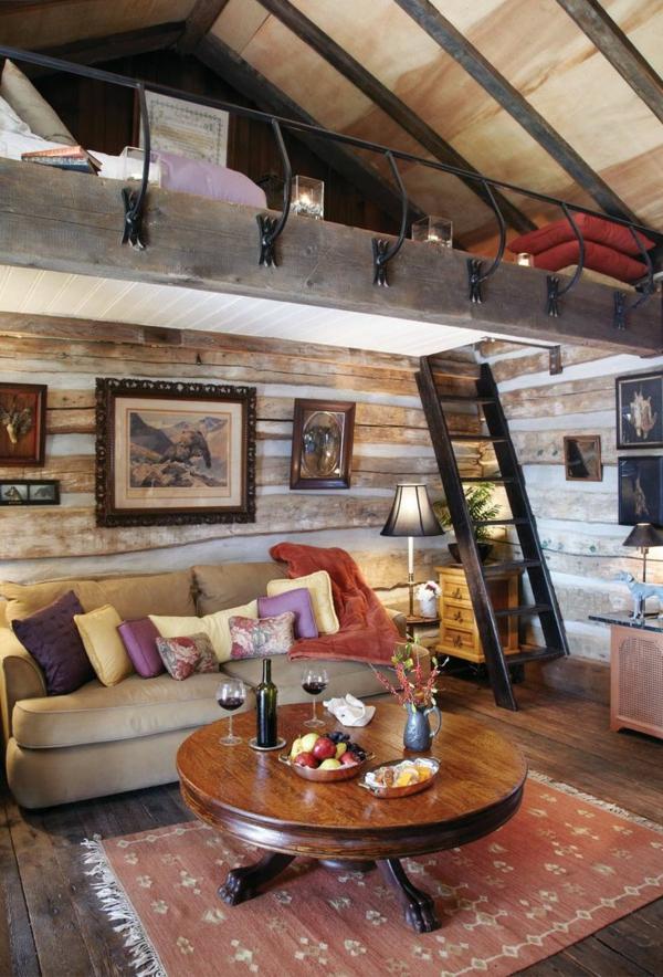 Hochbetten-mit-schönem-Design-Wohnzimmer