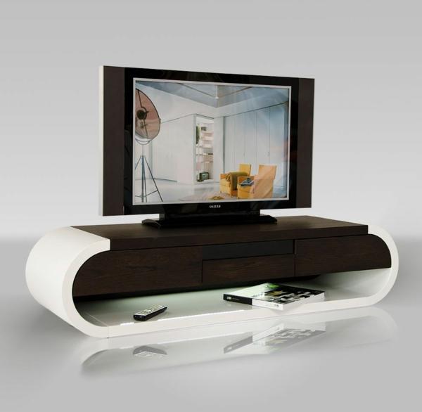 Interior-Design-Fernsehmöbel-mit-coolem-Design-für-ein-modernes-Wohnzimmer-TV-Schrank-Weiß
