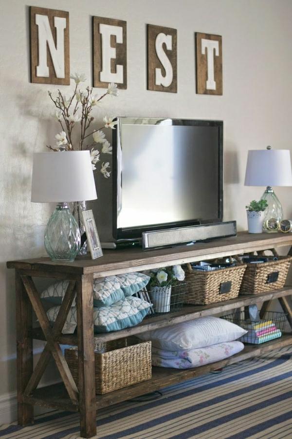 Interior-Design--Fernsehmöbel-mit-coolem-Design-für-ein-modernes-Wohnzimmer