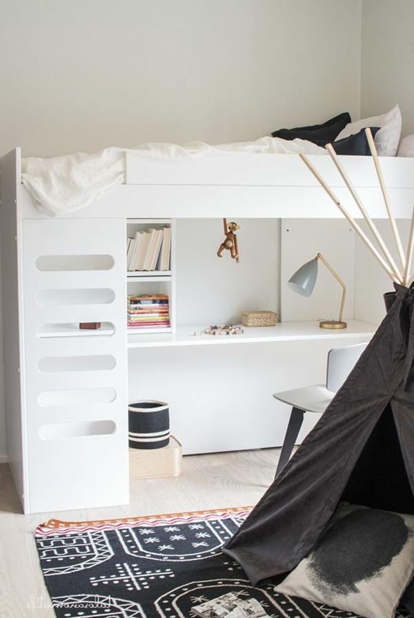 Interior-Design-Ideen-Hochbett-mit-Treppe-und-Schreibtisch-in--Weiß