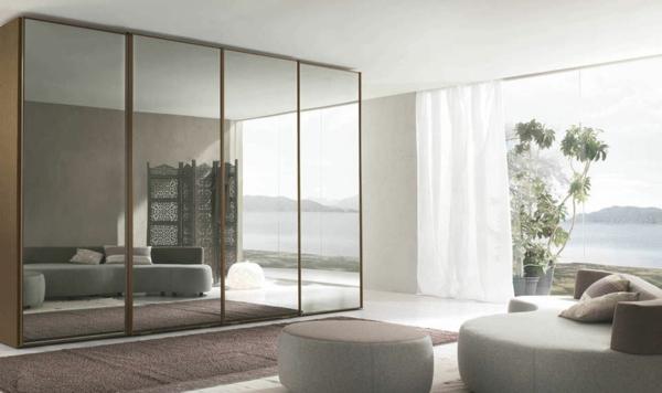 Interior-Design-Ideen-Schiebetüren-Kleiderschrank-Spiegel-Kleiderschrank-Schiebetüren-Spiegel-modernes-Interior-Design-Wohnideen