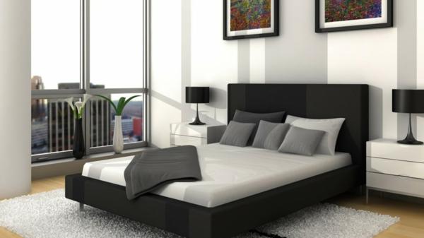 Schlafzimmer Schwarzes Bett: Schwarzes Schlafzimmer. Box Spring ... Schlafzimmer Gestalten Schwarzes Bett