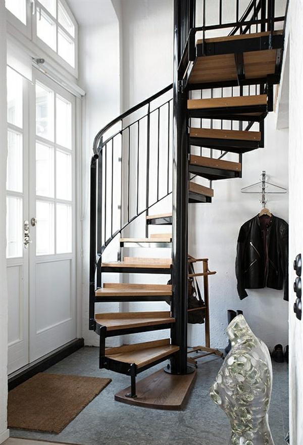 -Interior-Design-Ideen-Spindeltreppe-mit-originellem-Design