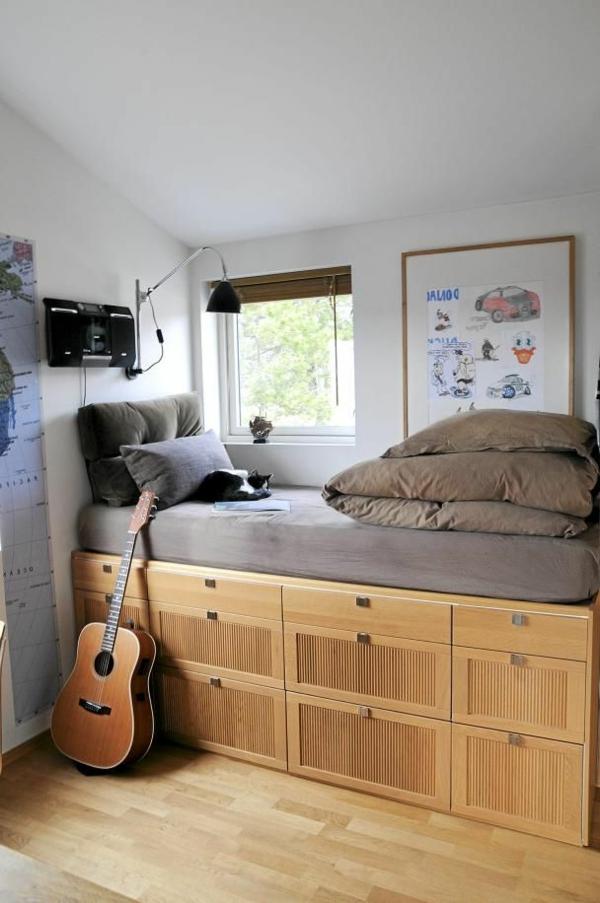 stauraum hochbett. Black Bedroom Furniture Sets. Home Design Ideas