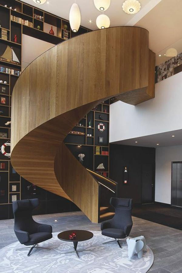 Treppenstufen Holz FUr Ausen ~ Interior Design Innenarchitektur moderne Innentreppen aus Holz