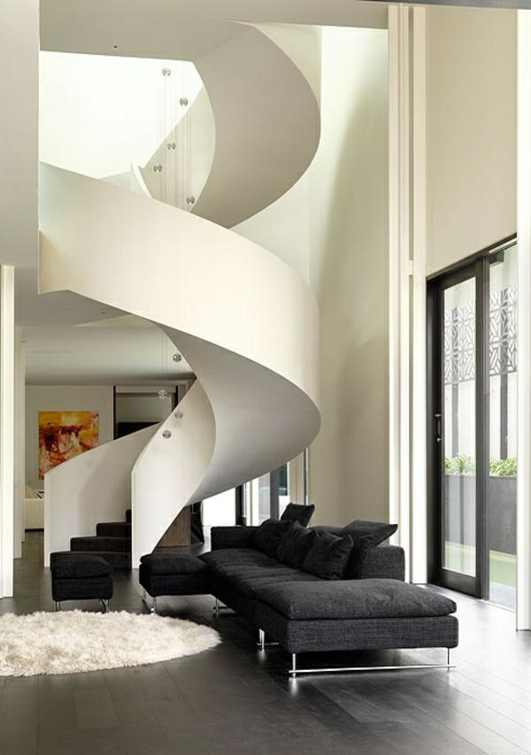Interior-Design-Innenarchitektur-moderne-Innentreppen-in-Weiß