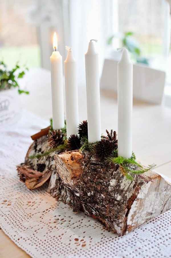 Basteln Mit Holz FUr Erwachsene ~ Kerzenhalter als eine tolle Dekoration für Zuhause zum Selbermachen