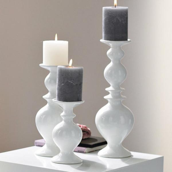 Kerzenständer-Weiß-super-Ideen-für-Kerzenständer-Dekoideen-für-die-Wohnung