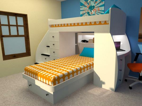Kinder-Hochbett-Interior-Design-Ideen-für-das-Kinderzimmer--