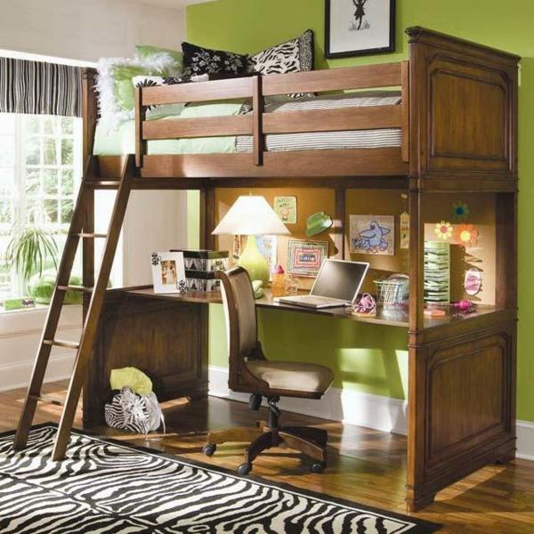 Kinder-Hochbett-Interior-Design--Ideen-für-das-Kinderzimmer