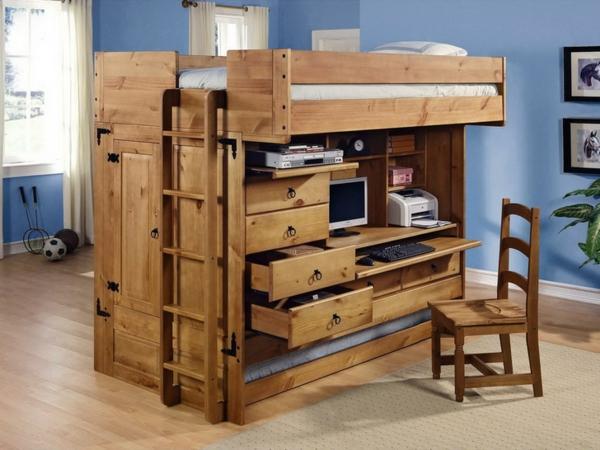 Kinder-Hochbett--Interior-Design-Ideen-für-das-Kinderzimmer