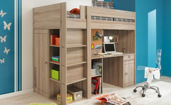 hochbett mit schreibtisch f r das kinderzimmer. Black Bedroom Furniture Sets. Home Design Ideas