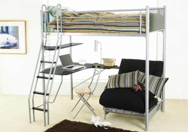 Full Size Ikea Bunk Bed Metal White