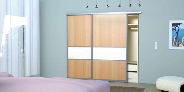 Kleiderschrank-Schiebetüren-Spiegel-modernes-Interior-Design-Wohnideen-Schlafzimmer-einrichten