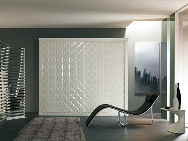 Kleiderschrank-Weiß-Schiebetüren-Spiegel-modernes-Interior-Design-Wohnideen