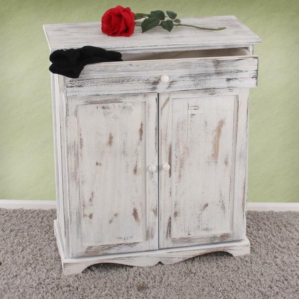 Kommode-Vintage-Weiß-wunderschönes-Design