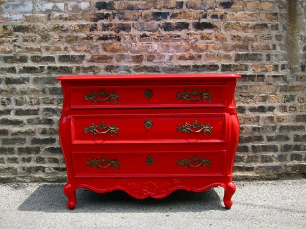 Kommoden-Vintage-in-Rot-schöne-Idee-für-Interior-Design
