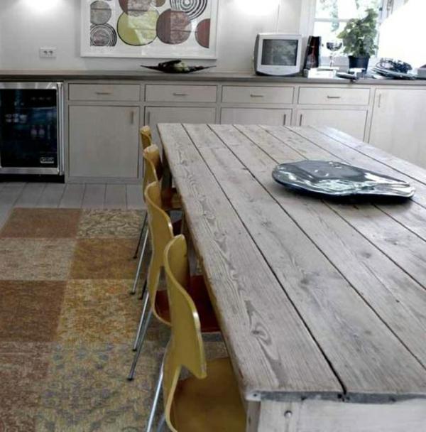 patchwork-teppich-küche