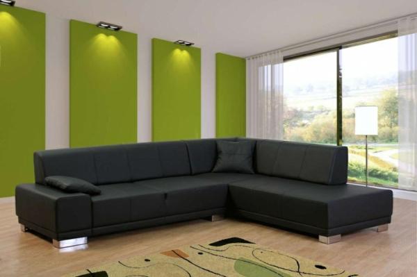 ecksofa 105 wunderbare modelle f r ihre wohnung. Black Bedroom Furniture Sets. Home Design Ideas