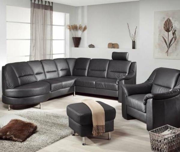 schwarz-design-sofa