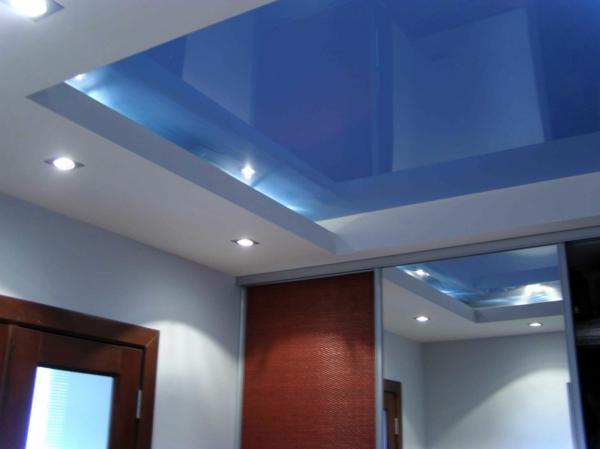 modernen flur gestalten coole deckenleuchten - Moderne Zimmerdecken