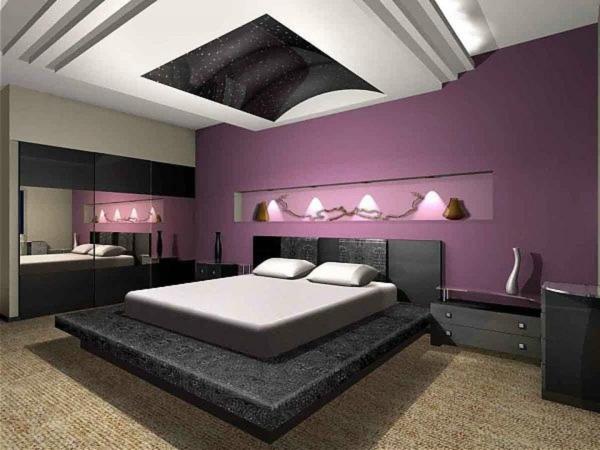 Modernes schlafzimmer lila  Moderne schlafzimmer in lila ~ Übersicht Traum Schlafzimmer
