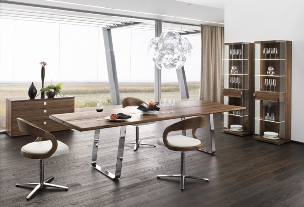 Modern-dining-table-sustainable-natural-wood-chrome