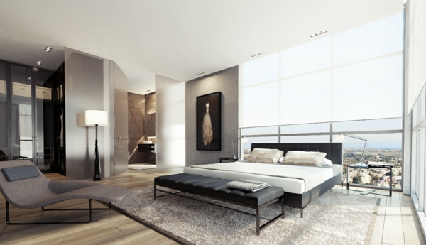 Modernes-Schlafzimmer-gestalten-Schwarz-Weiß