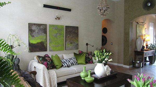 Zimmerpflanzen Fur Wohnzimmer : Pflanzen im Zimmer in kombination mit ...