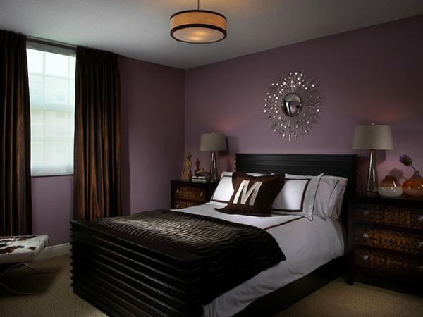 schlafzimmer mit einem modernen bett