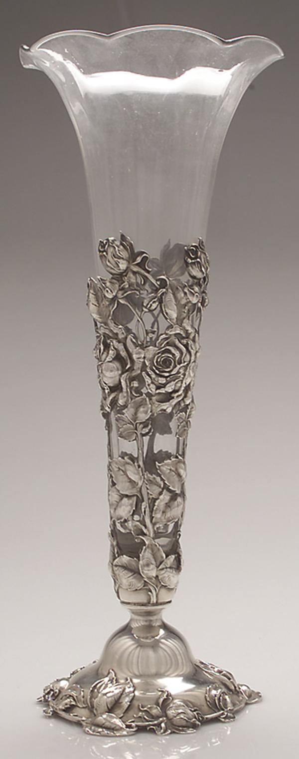 vase-glas-silber-rosen