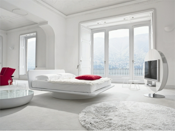 modernes schlafzimmer einrichten - 99 schöne ideen! - archzine.net - Schlafzimmer In Weis Einrichten