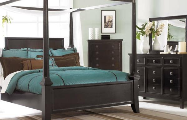 Schlafzimmer-einrichten-Retro-Stil-Holz