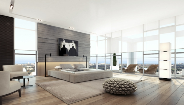 modernes schlafzimmer gestalten ideen. Black Bedroom Furniture Sets. Home Design Ideas