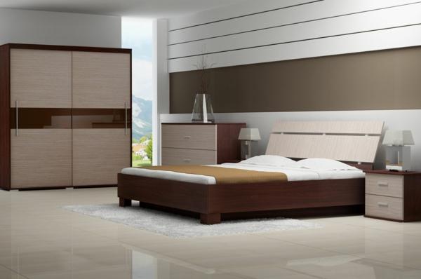 -Schlafzimmer-gestalten-moderne-Schlafzimmermöbel-Kleiderschrank-aus-Holz