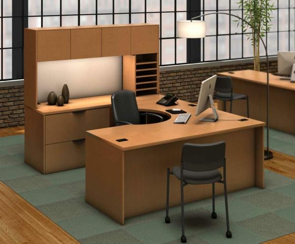 Super-praktischer-moderner-Holzschreibtisch--