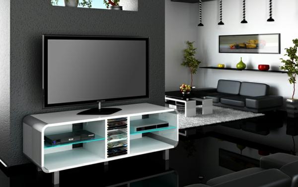 TV-Schrank-aus-Holz-mit-modernem-Design-in-Weiß