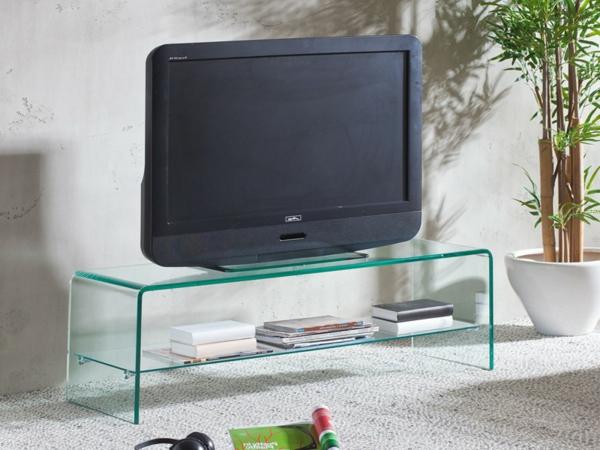 -TV-Tisch-Fernseregal-aus-Glas-moderne-Idee-für-das-Wohnzimmer