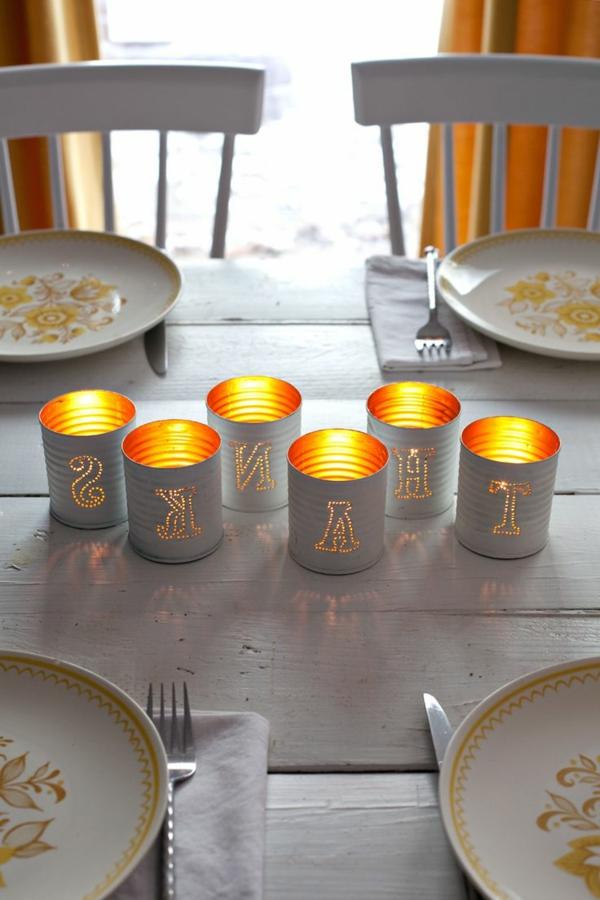 Tischdeko-mit-Kerzen-Deko-Ideen-für-den-Tisch-