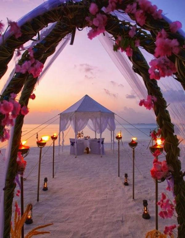 hochzeit am strand ein romantischer traum. Black Bedroom Furniture Sets. Home Design Ideas
