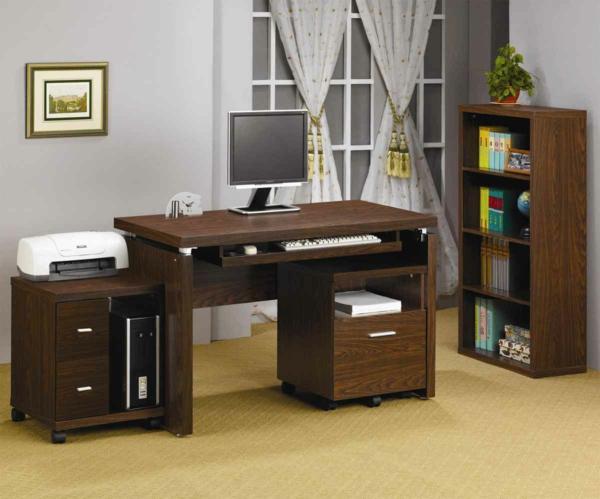 -Wohnideen-PC-Tisch-aus-Holz-Interior-Design-Ideen