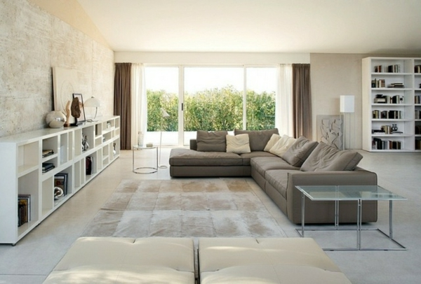 Wohnzimmer Quadratisch Einrichten Patchwork Teppich Eine Besonderheit Fr Sich