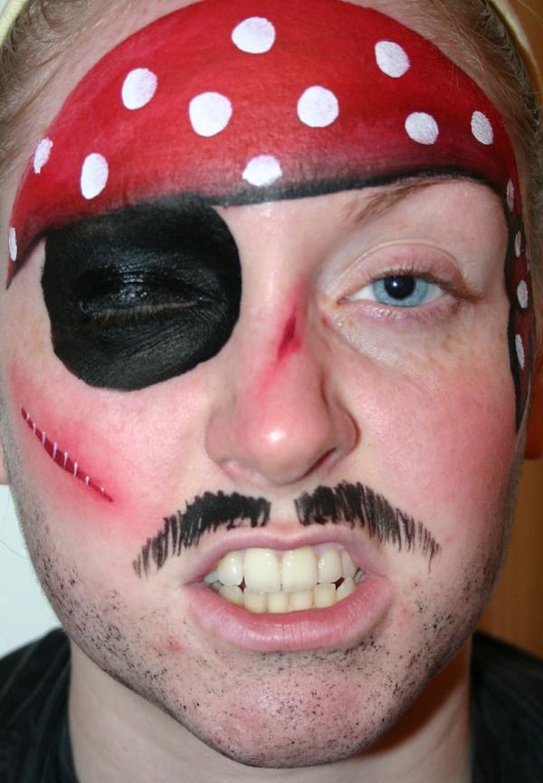 piratschminken für jungen und männer