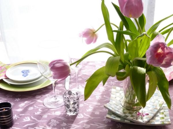 Einfache tischdeko frühling  Tischdeko Frühling - 100 bezaubernde Ideen zum selber machen ...