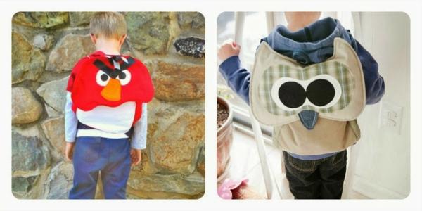 schöne modelle vom rucksack für kindergarten - angry birds motive