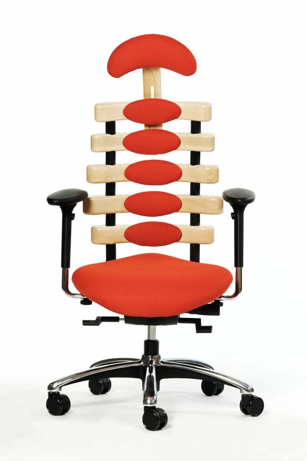 bürostuhl-in-orange-ergonomisches-design-heimbüro-einrichten