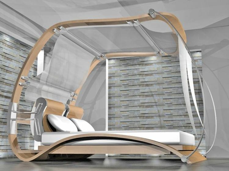 Himmelbett aus holz die spektakul rsten ideen for Bett holz modern