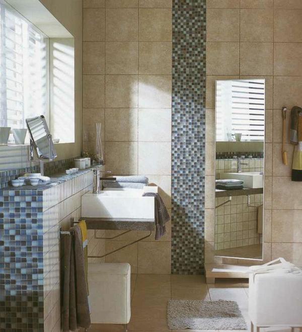 Mosaik Akzente Badezimmer ? Bitmoon.info Badezimmer Mosaik Modern