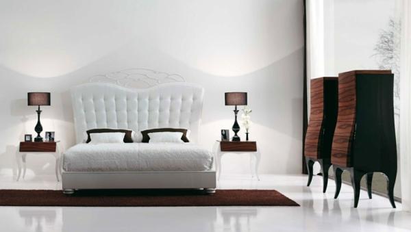 zimmer inspiration-weißes design vom bett