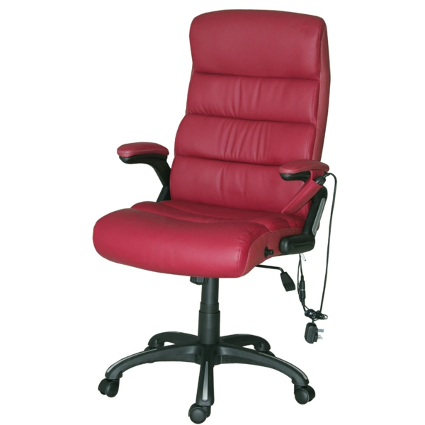 bequeme-Bürostühle-mit-schönem-Design-in-Rot-Interior-Design-Ideen
